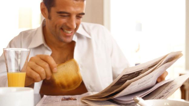 Audio «Espresso Aha!: Warum Zeitunglesen heute ohne schwarze Finger geht» abspielen