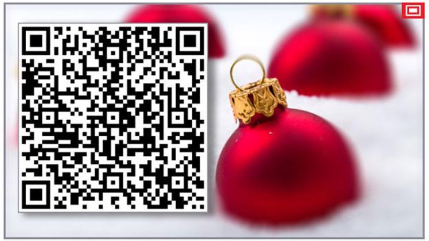 QR-Code: Quadratische Weihnachtswünsche
