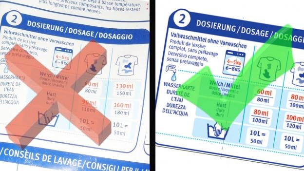 Audio «Migros-Waschmittel mit Druckfehler bei Dosier-Angaben» abspielen.