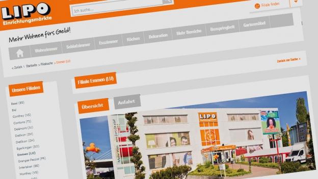 Möbelhaus Lipo lässt die Kunden zweimal antraben