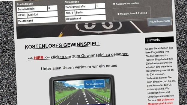 Audio «Routenplaner-Abzocker drohen weiter mit Wohnungsräumung» abspielen.