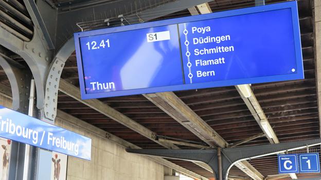 Neue Anzeige: Bessere Information auf dem Bahngleis