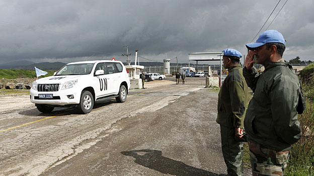 Uno-Blauhelme im Strudel des syrischen Bürgerkriegs