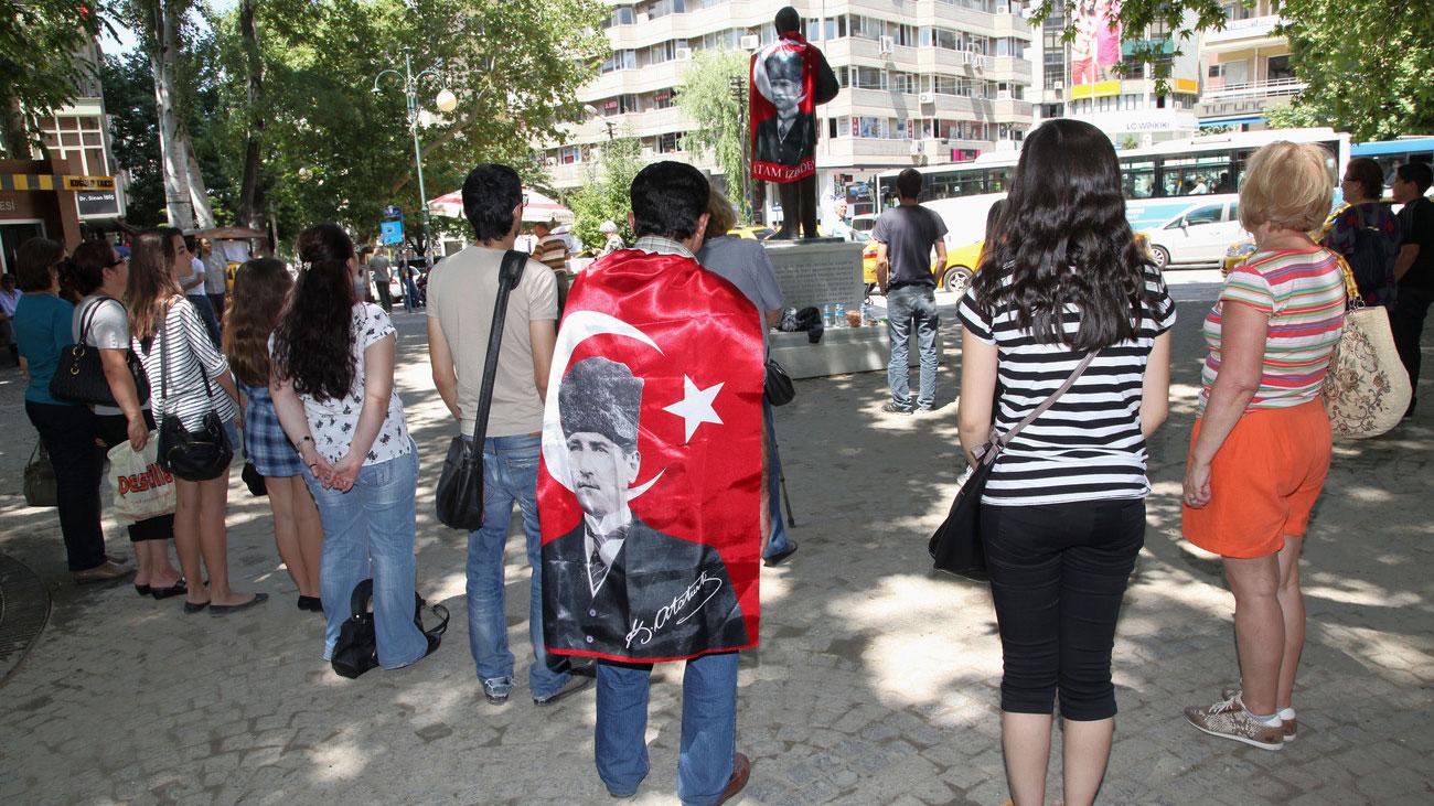 Stiller Protest in Istanbul