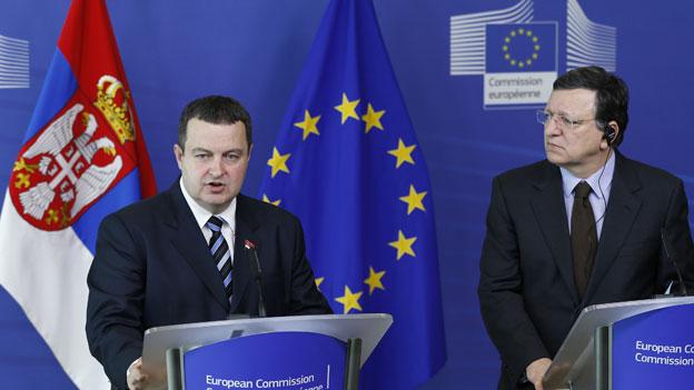 EU zu Verhandlungen mit Serbien bereit