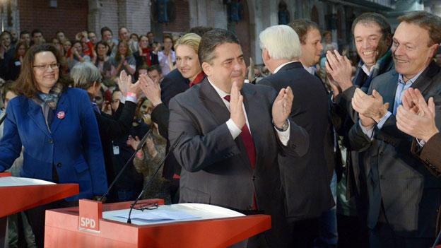 SPD-Basis umarmt grosse Koalition