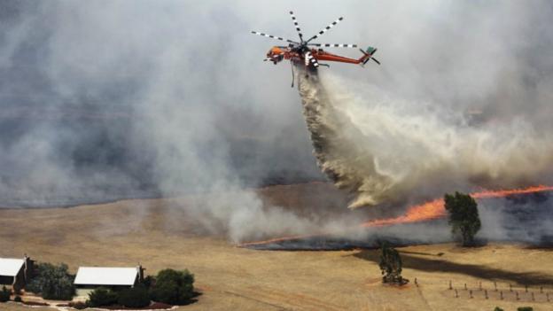 Australien: Feuerwehr kämpft gegen rund hundert Buschbrände