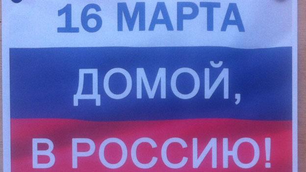 Russische Polit-Propaganda auf der Krim