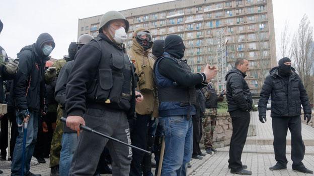 Weitere Gebäude in der Ostukraine besetzt
