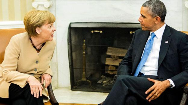 Schwierige Gespräche zwischen Merkel und Obama