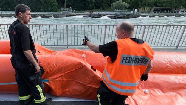 Schwere Unwetterschäden in der Schweiz