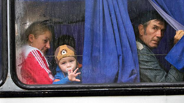 Auf der Flucht im Osten der Ukraine