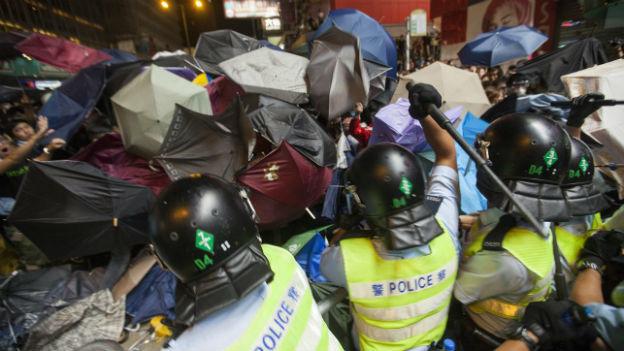 Proteste in Hongkong flammen wieder auf