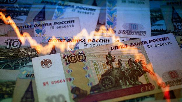 Russische Zentralbank kämpft gegen schwachen Rubel