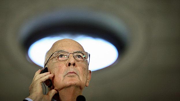 Italien vor dem Rücktritt von Staatspräsident Napolitano