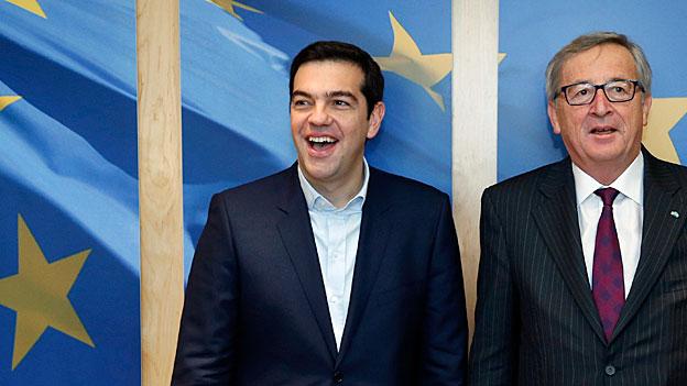 Wogen glätten - Griechenlands Premier Tsipras in Brüssel