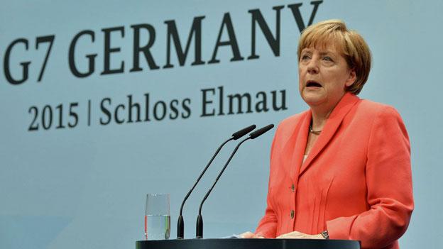 Zufriedene Gastgeberin des G7-Gipfels