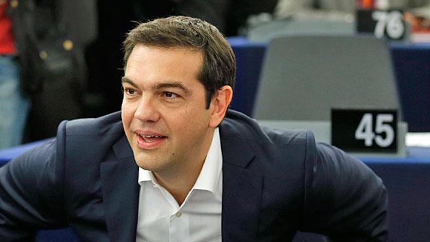 Alexis Tsipras vor dem Europaparlament