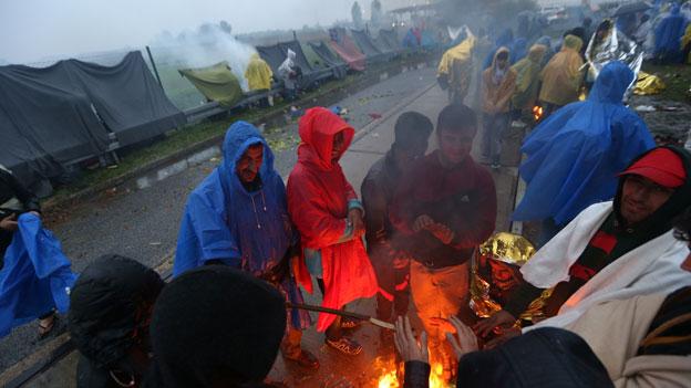 Slowenien stoppt Flüchtlinge auf dem Weg nach Westeuropa
