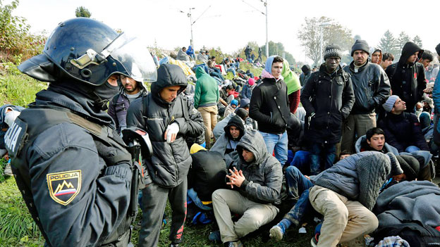 Chaos an der slowenischen Grenze