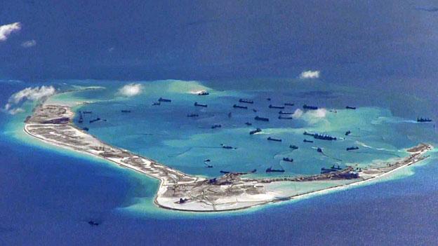 Die USA und China und das Südchinesische Meer