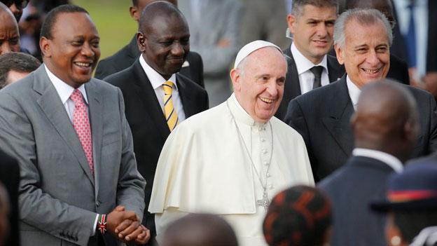 Papst Franziskus in Kenia willkommen