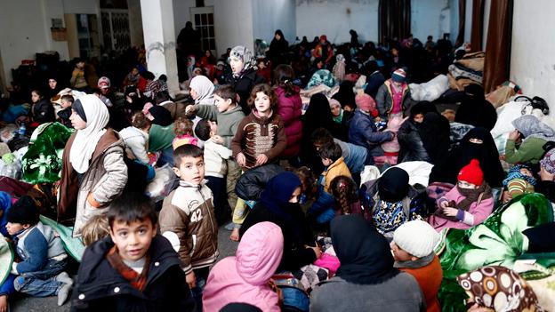 Zehntausende auf der Flucht Richtung Türkei
