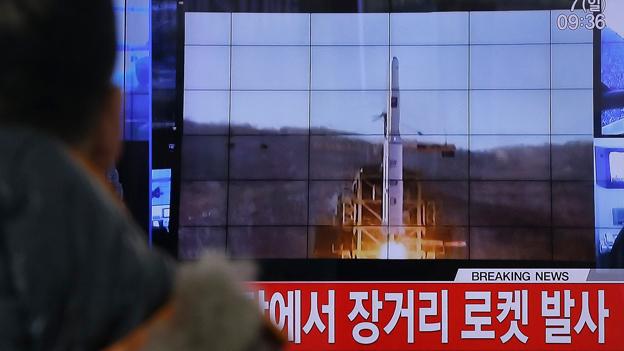 Empörung nach Raketentest in Nordkorea