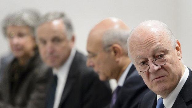 Keinerlei Annäherung an der Syrien-Verhandlungsrunde in Genf