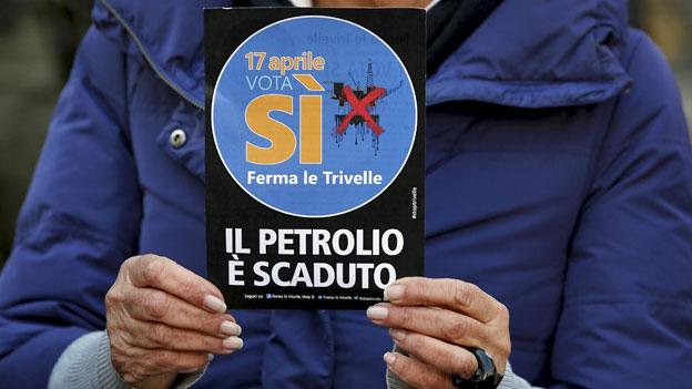 Abstimmung über Italiens Öl- und Gasvorkommen