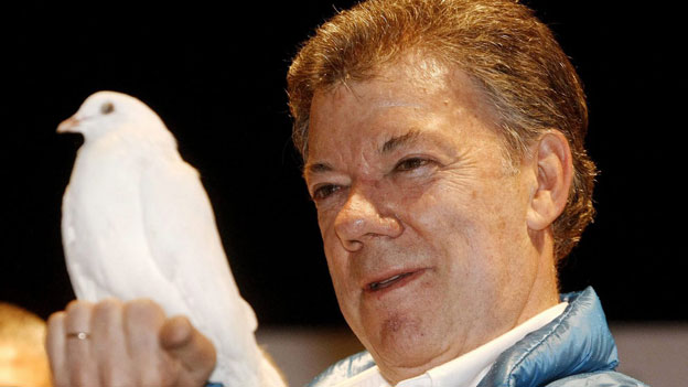 Kolumbiens Präsident Santos erhält den Friedensnobelpreis 2016