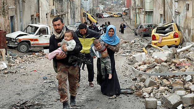 Audio «Mossul – gefährliche Flucht aus der umkämpften Stadt» abspielen