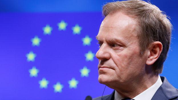 Audio «Tusk als EU-Ratspräsident wiedergewählt» abspielen