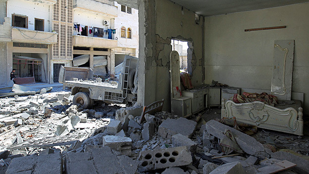 Audio «Giftgasangriff: «Eine Gewaltdemonstration Assads»» abspielen