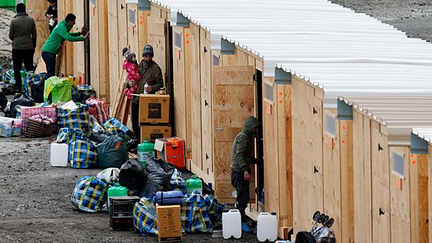 Flüchtlingslager «Grande-Synthe» bei Dünkirchen abgebrannt