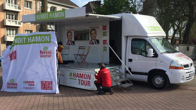 Audio «Ziellose Mobilisierungstour für Benoît Hamon» abspielen.