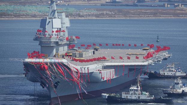 Bedrohliche Aufrüstung von Kriegsschiffen
