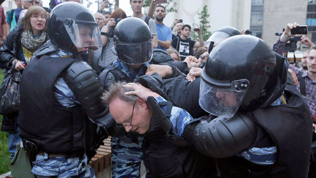 Russland: Demonstrationen gegen die Regierung