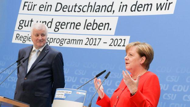 Audio «CDU und CSU präsentieren gemeinsames Wahlprogramm» abspielen