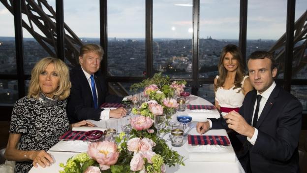Trump bei Macron: «Ein Nachtessen unter Freunden»