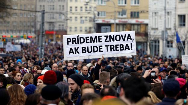 Slowakei: Menschen fordern Ende der Korruption