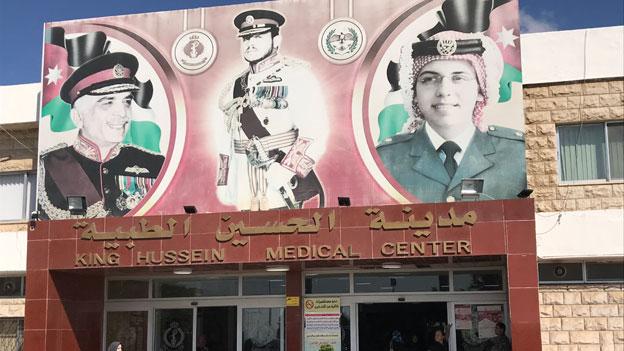 King Hussein Medical Center in Amman hilft aus