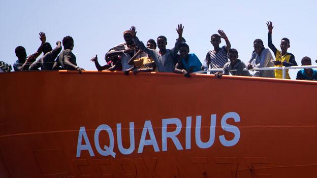 Die Lage an Bord der «Aquarius» ist schwierig