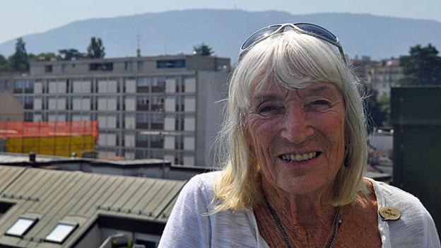 Yvette Vaucher am 14. Juli 1965: glücklich auf dem Matterhorn