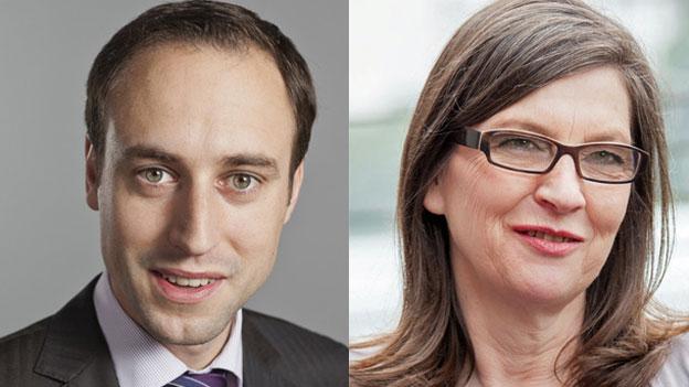 «Wahllokal» aus Bern: Silvia Schenker und Christian Wasserfallen