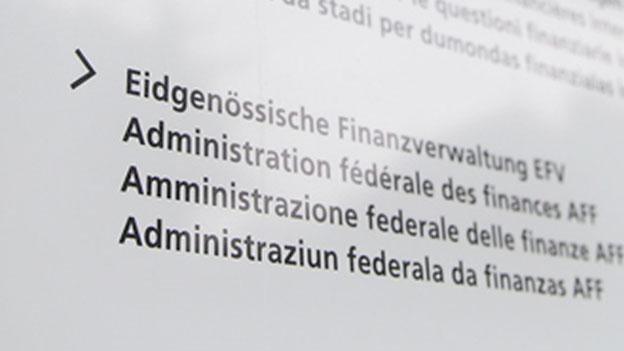 Bund will jährlich eine Milliarde Franken sparen