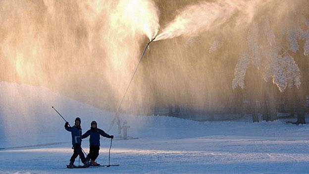 Null-Energie-Schneelanzen zur Rettung des Winters