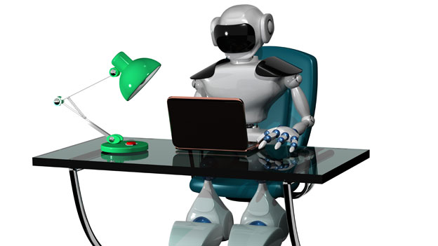 Bürokollege Roboter