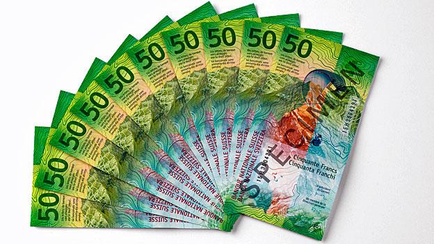 Die neue 50-Franken-Note – Fälschern einen Schritt voraus