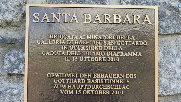 Gotthard-Basistunnel: Mahnmal für die neun Opfer